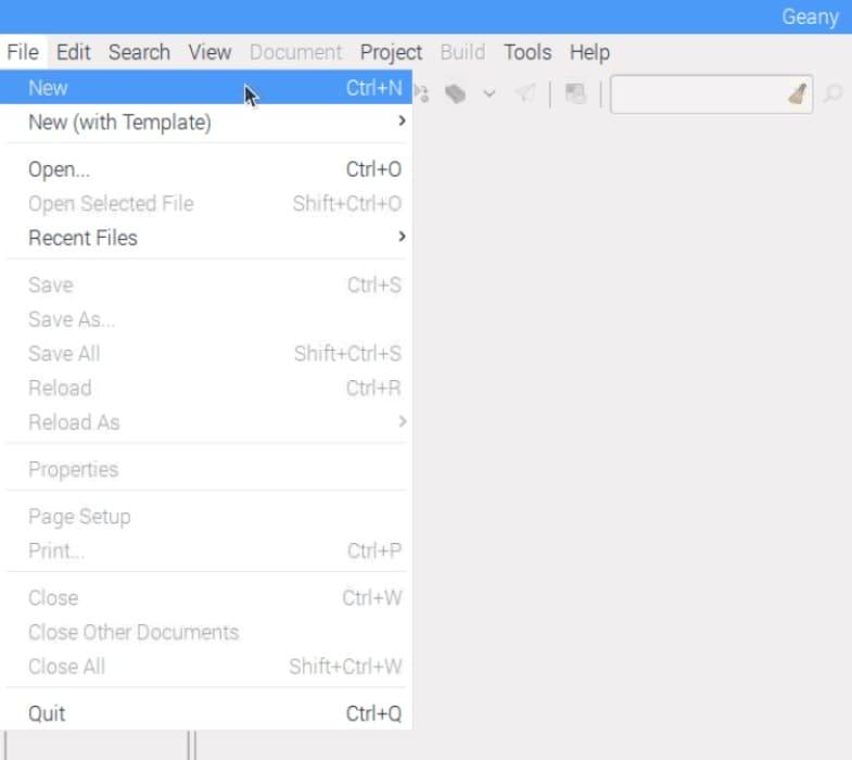 abrir program editor en Raspbian - Cómo usar la librería WiringPi en Raspberry Pi