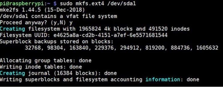 formatear raspberry pi usb - ¿Cómo formatear y montar una unidad USB en Raspberry Pi?