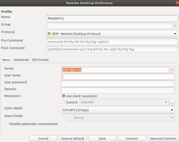 remmina escritorio remoto - 5 maneras de escritorio remoto en Raspberry Pi (Windows/Linux/Mac)
