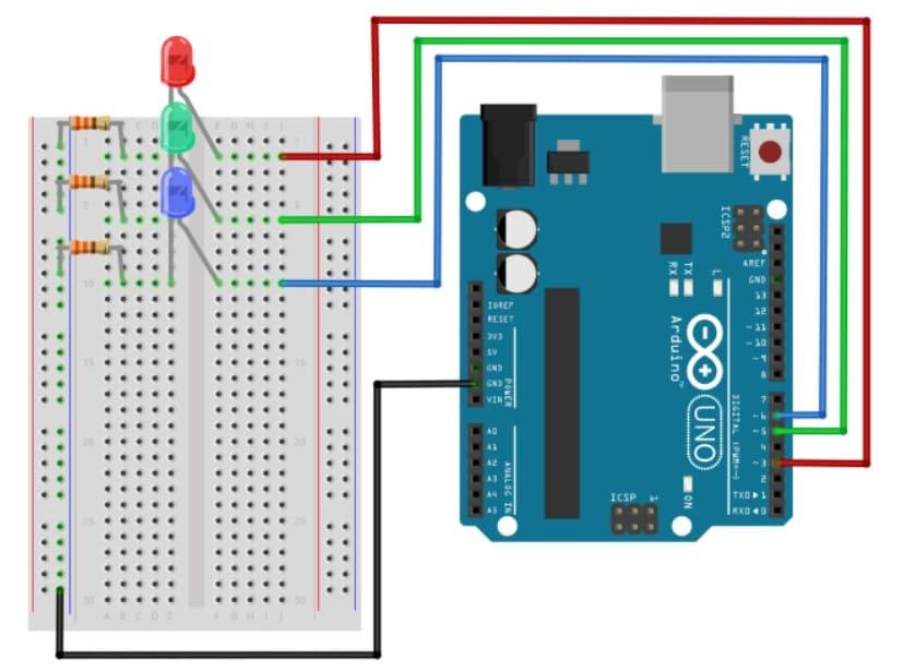 circuito 1 de librería - Cómo construir una librería Arduino