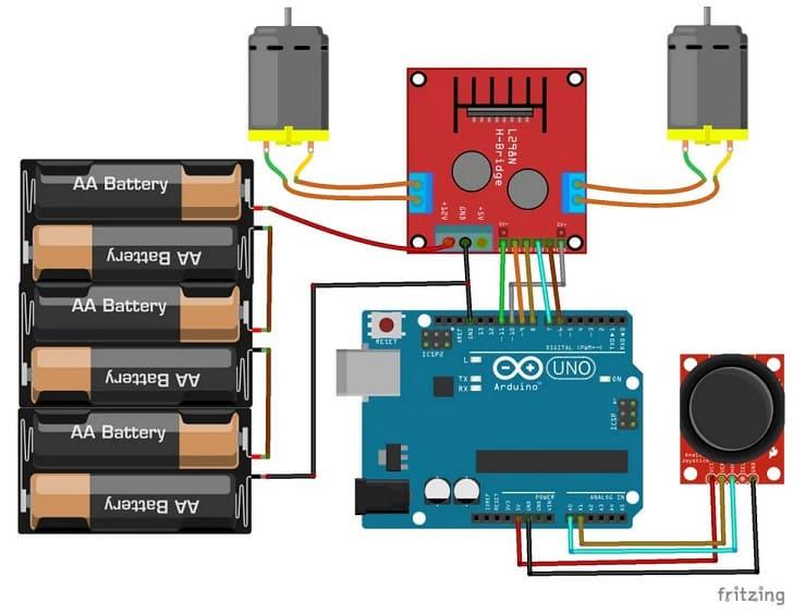conexiones con Arduino y modulo L298N DC motor - Controlando Motores DC con Arduino y el módulo L298N