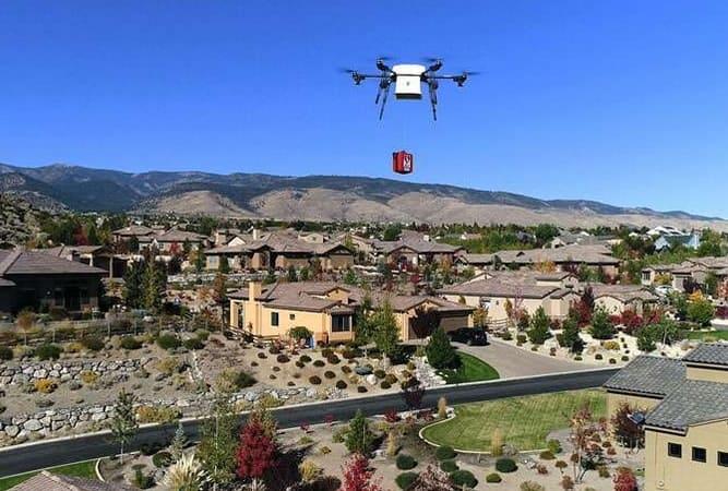drone entregando medicinas - El uso de drones para la entrega