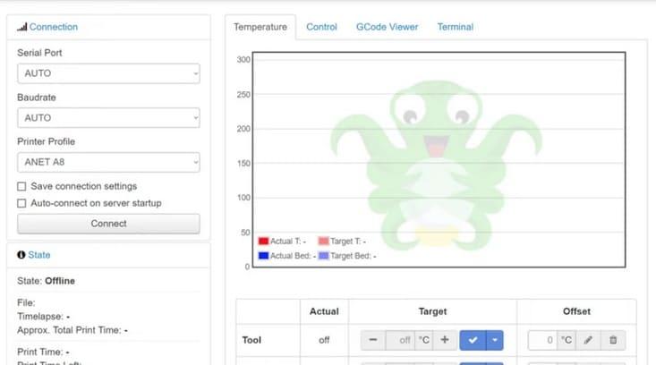 interfaz web octoprint - OctoPrint: Cómo instalar OctoPi en una Raspberry Pi