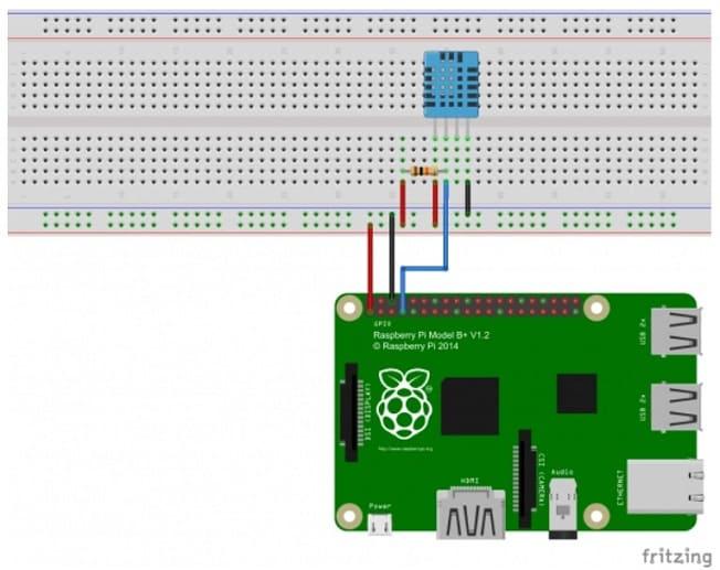 sensor de humedad y temperatura conectado a una Raspberry Pi - Raspberry Pi: Mide la de humedad y temperatura con un sensor DHT11/DHT22