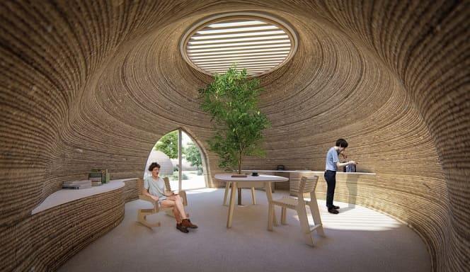 casa de archilla impresa en 3D - Vivienda de arcilla impresa en 3D en construcción en Italia