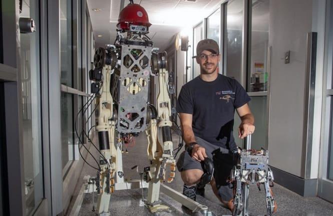 hermes y little Hermes - El chaleco de control del MIT para robots ayuda a los droides de trabajos pesados a mantenerse equilibrados