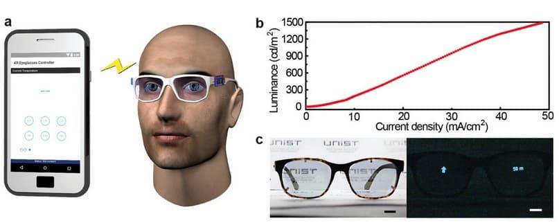 lentes de gafas de realidad aumentada - Una nueva técnica de impresión en 3D permite la creación de pantallas OLED transparentes y de formas libres