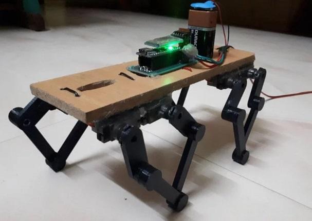 robot cuadrupedo construido con Arduino - Baby Cheetah, un mini robot cuadrúpedo con Arduino