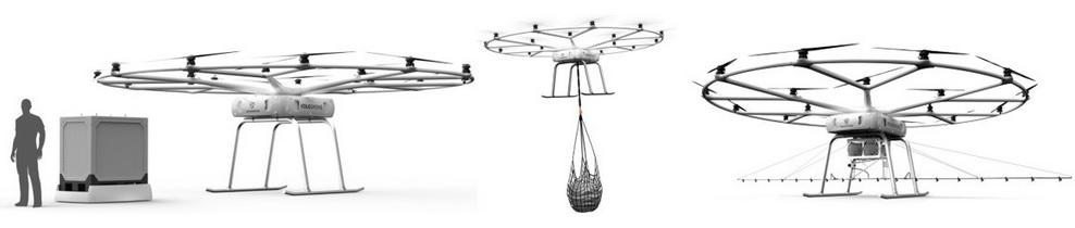 volodrone - Volocopter estrena un drone gigante lo suficientemente potente como para levantar 200 kg