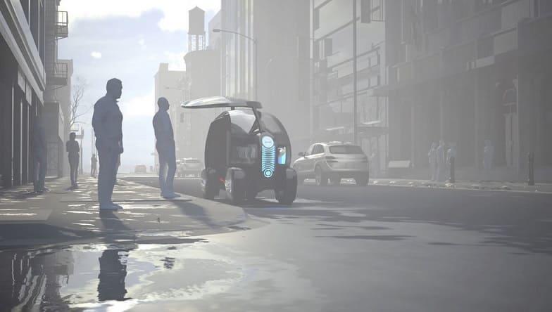 Loci en calle - BigRep 3D imprime el coche eléctrico autónomo Loci
