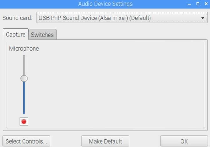 audio configuracion - Cómo añadir un micrófono a Raspberry Pi