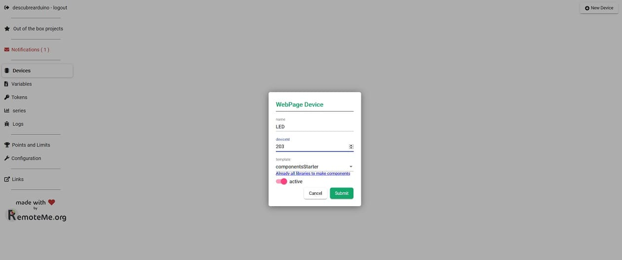 device remoteme - Cómo controlar Dispositivos utilizando un navegador web (NodeMCU)