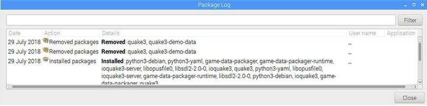 quitar quake 3 raspberry - Cómo desinstalar programas en una Raspberry Pi