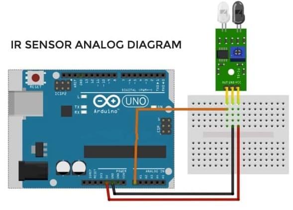 IR sensor analog diagrama - 9 Sensores para Arduino que debes aprender a utilizar
