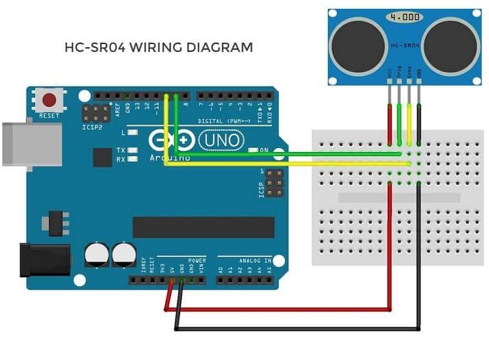 hc sr04 diagrama wiring conexions - 9 Sensores para Arduino que debes aprender a utilizar