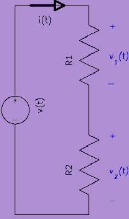 Regla del divisor de voltaje en dos resistencias en serie - Divisor de tensión, Cómo calcularla