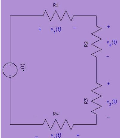 Regla del divisor de voltaje en más de dos resistencias en serie - Divisor de tensión, Cómo calcularla