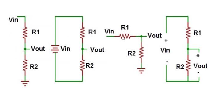 esquemas division de tensión - Divisor de tensión, Cómo calcularla
