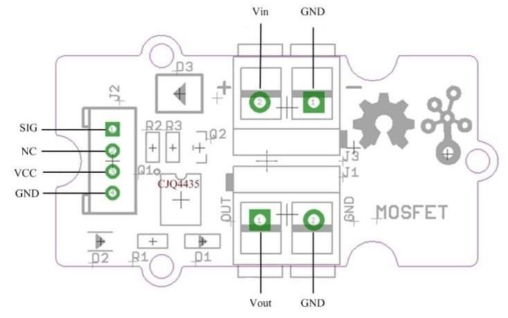 pinout MOSFET - ¿Qué es el transistor MOSFET y cómo usarlo con Arduino?