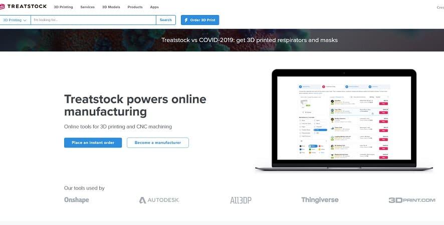 treatstock - Las mejores alternativas a Thingserve para impresión en 3D