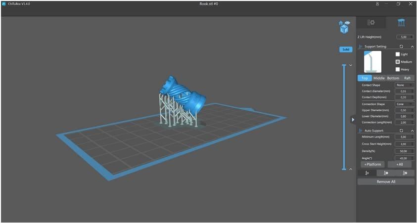 interface chitubox - Elegoo Mars, análisis de la impresora 3D de resina de Elegoo Mars MSLA