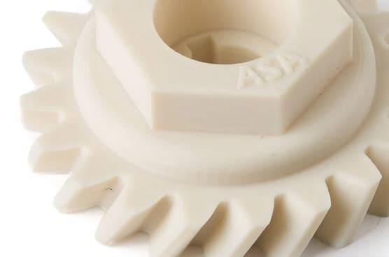 pieza impresa con filamento ASA - ¿Qué es el filamento ASA en la impresión 3D? Cómo imprimir con él