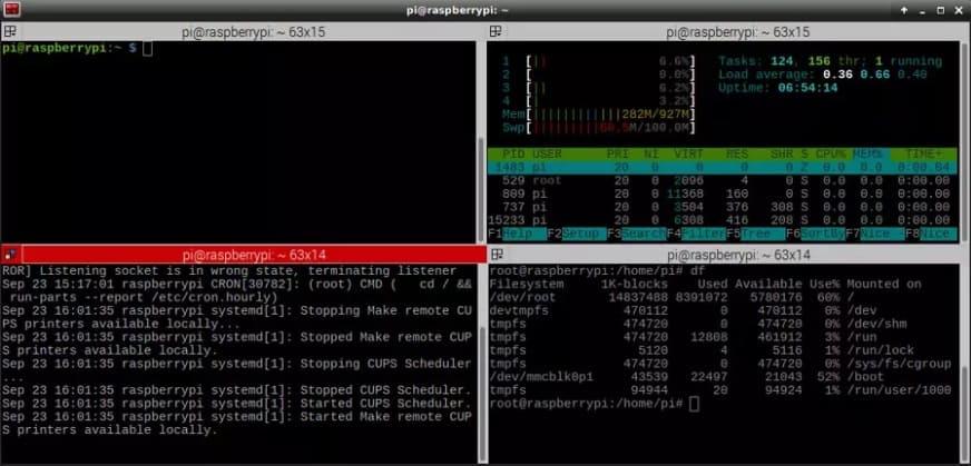 terminator - Las mejores aplicaciones de Raspbian para usar un Raspberry Pi como un PC de escritorio