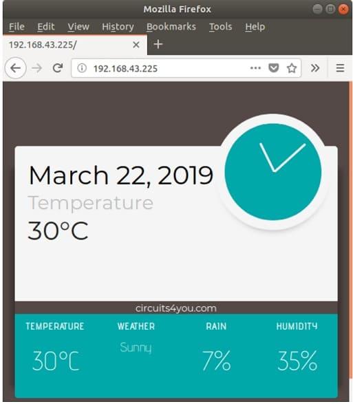 medición de temperatura - Cómo construir una Estación meteorológica con ESP8266 usando el IDE de Arduino