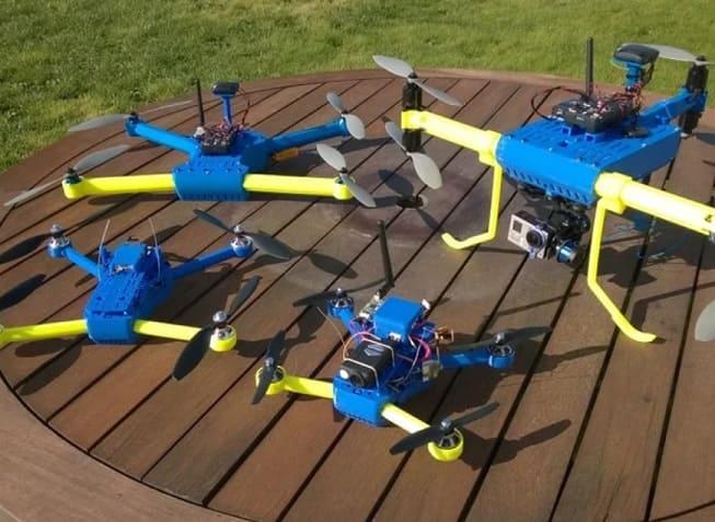 T4 Quadcopter Drone - Drones impresos en 3D de Thingiverse que vale la pena hacer