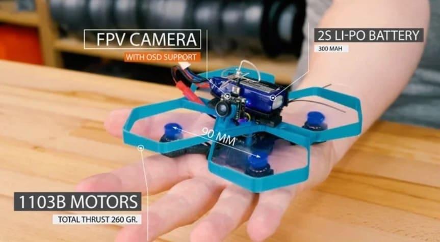 TinyTina 90mm - Drones impresos en 3D de Thingiverse que vale la pena hacer