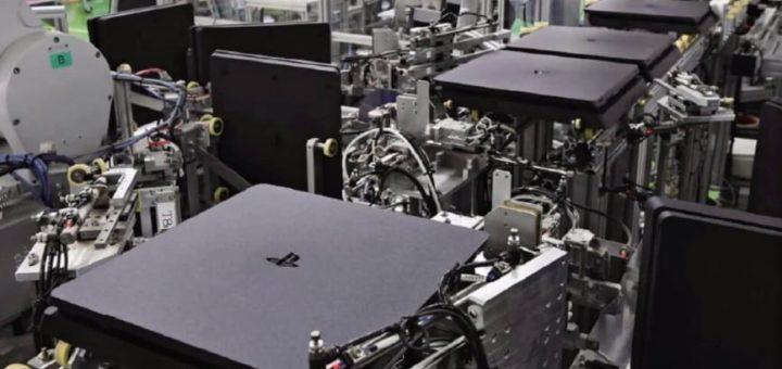 robots fabrican playstation de Sony