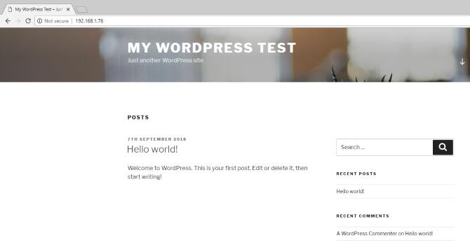 installed wordpress site on a raspberry pi - Cómo alojar tu web de WordPress en Raspberry Pi