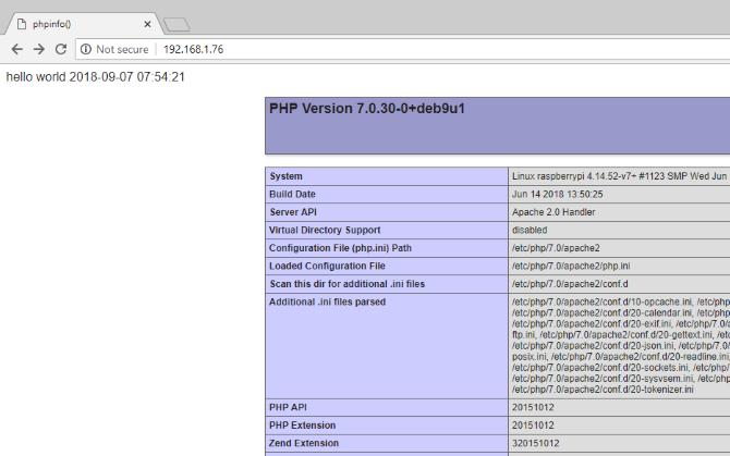 php installed and working on raspberry pi - Cómo alojar tu web de WordPress en Raspberry Pi