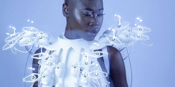 vestido robotico impreso en 3d Pagolin