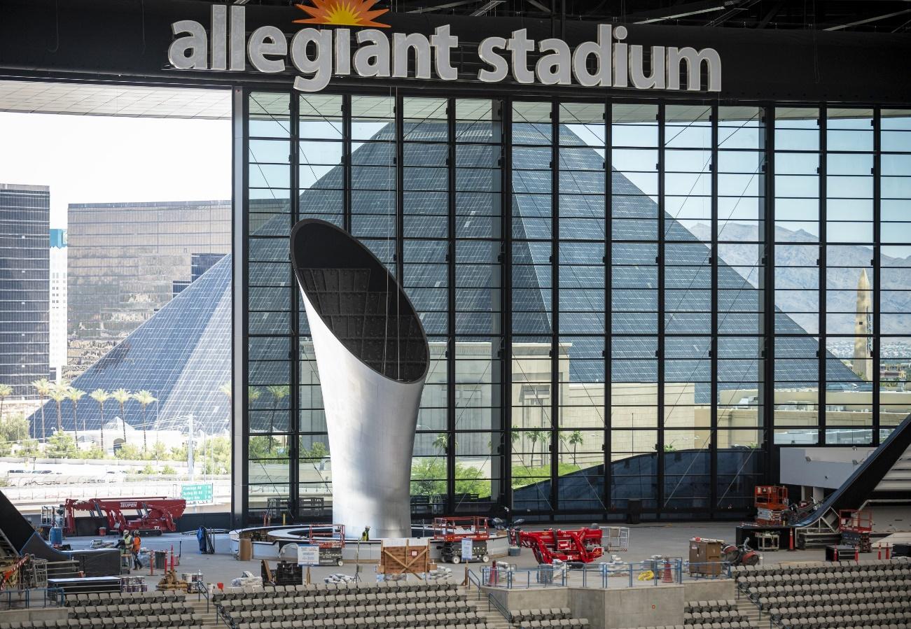 al davis memorial torch dimensional innovations 1 - La antorcha del estadio de los Raiders de Las Vegas, la estructura impresa en 3D más alta del mundo