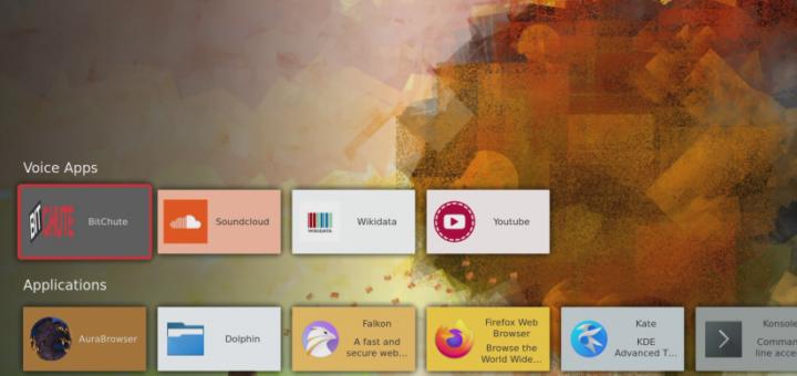 mejor Raspberry pi software inteligente para el hogar - plasma bigscreen os