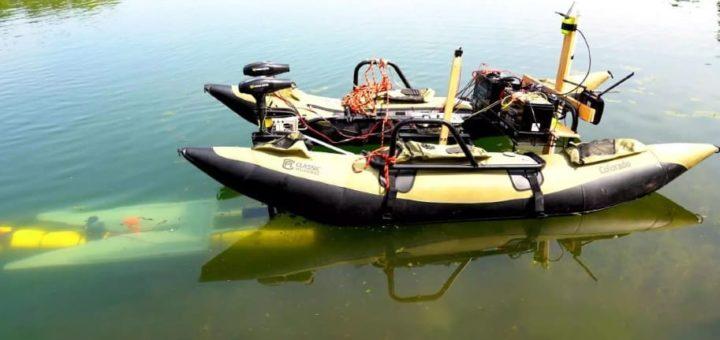 robot en el rio