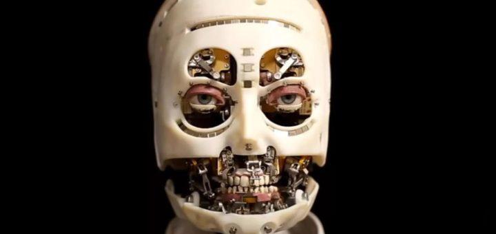 "Primer plano del robot de Disney Research ""Gaze""."