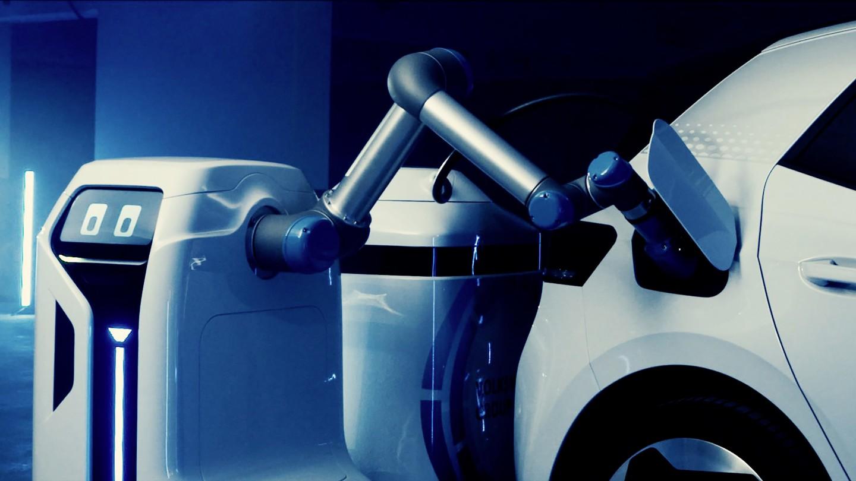 el brazo del prototipo del robot de carga movil es - El concepto de robot de carga EV móvil de VW se convierte en una realidad