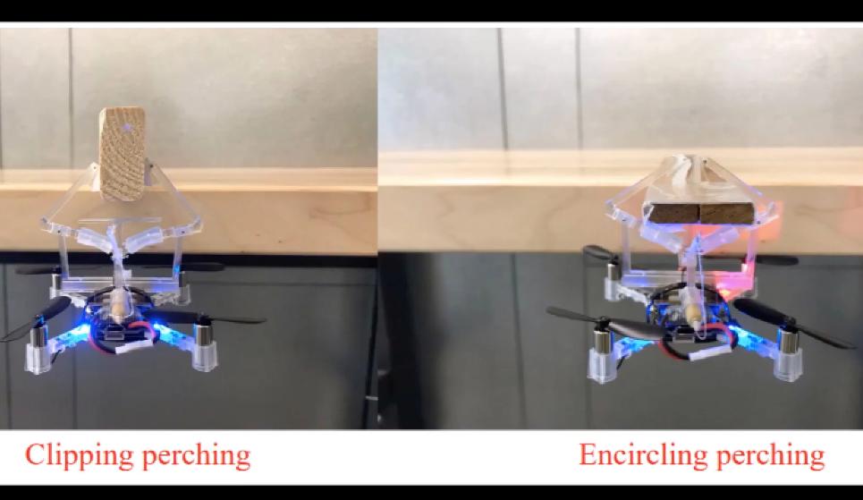 word image - Una pinza mecánica permite que los drones cuelguen de los objetos