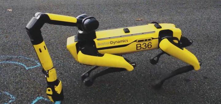 El robo-perro spot de Boston Dynamics ahora puede recoger las cosas y cargarse a sí mismo