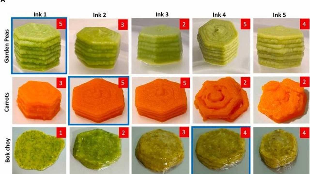 los alimentos impresos en 3d conservan la nutricio - Los alimentos impresos en 3D conservan la nutrición y el sabor de las verduras frescas y congeladas