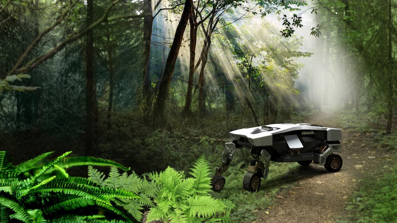 word image 10 - El vehículo conceptual TIGER de Hyundai puede rodar o caminar por terrenos difíciles