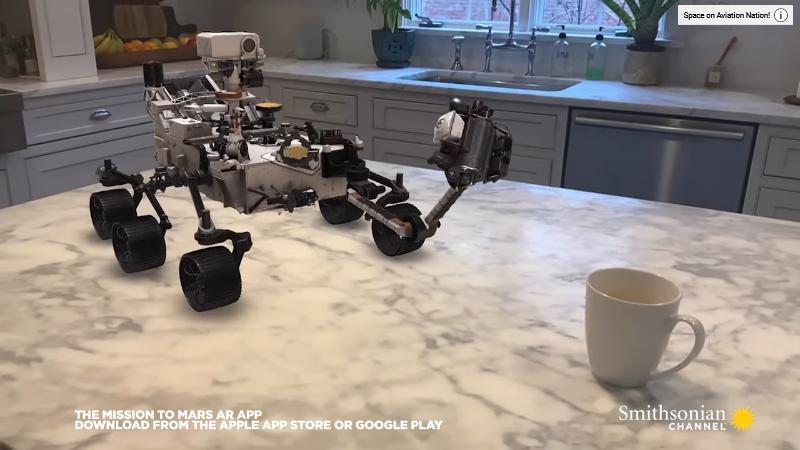 word image 4 - Puedes aterrizar y conducir el Rover de Marte Perseverance de la NASA en RA con la nueva aplicación de Smithsonian Channel