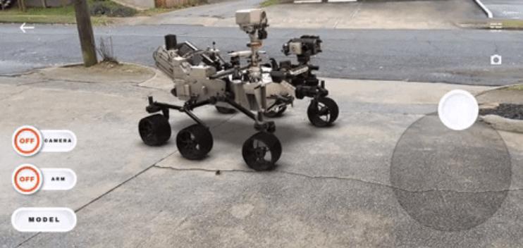 word image 6 - Puedes aterrizar y conducir el Rover de Marte Perseverance de la NASA en RA con la nueva aplicación de Smithsonian Channel