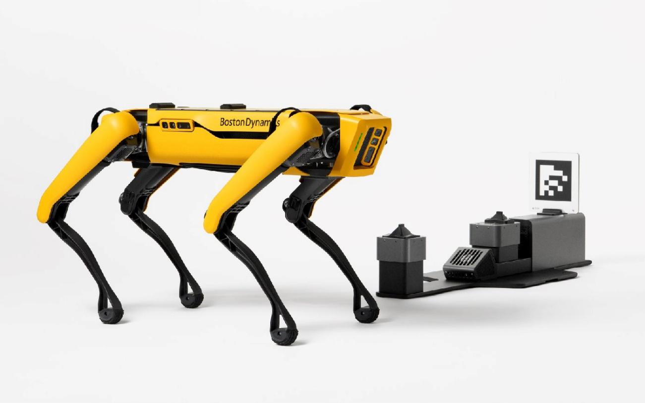 word image 9 - El perro-robot Spot de Boston Dynamics ya puede recoger cosas y cargarse solo