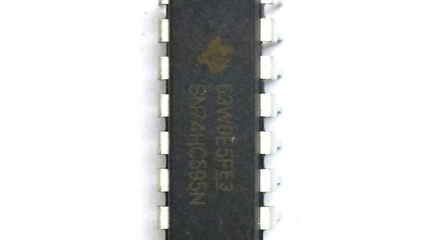 74HC595 Registro de turnos de 8 bits