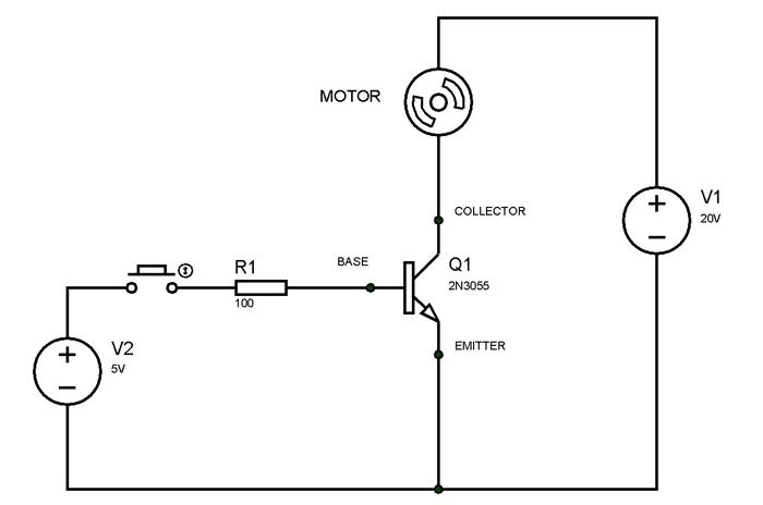 circuito transistor 2n3055 - 2n3055 Que es el transistor bipolar NPN
