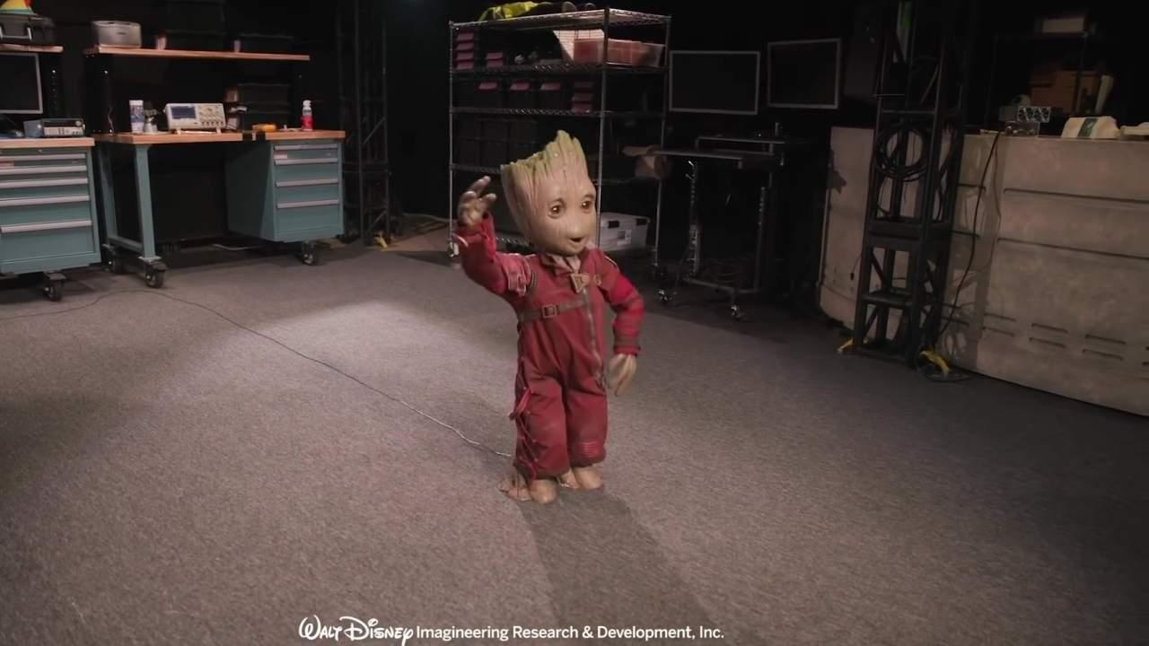 el robot kiwi del proyecto disney da vida al nino - El Disney Project Kiwi robot da vida al niño Groot