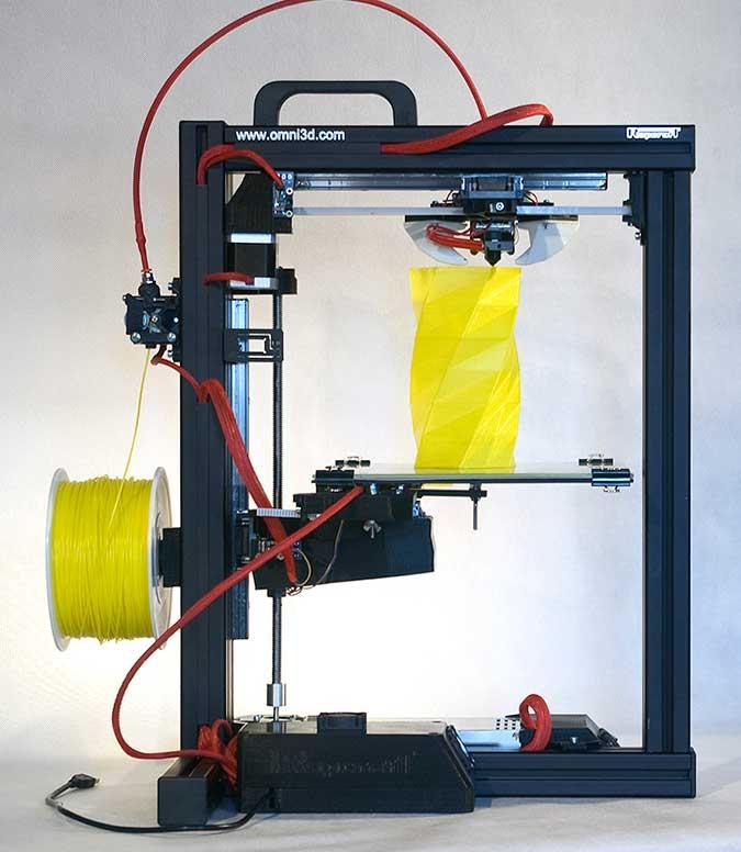 the omni3d rapcraft 1 3 3d printer using coloured - Filamento ABS: La Guía completa (y las mejores impresoras 3D ABS)